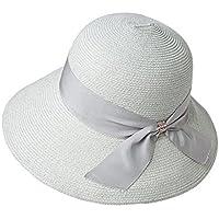 Cappello ZHIRONG Estate Estivo da Donna Spiaggia Spiaggia Tesa Larga  Pieghevole Blu Nero Grigio Estivo Casual 518d50b7ed82