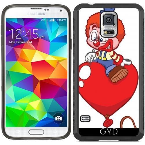 SilikonHülle für Samsung Galaxy S5 (SM-G900) - Hr Clown Auf Einem Ballon by Cadellin (Clown Für Samsung Galaxy S5 Fall)