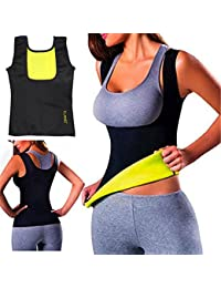 102fb7b75b ELAIMEI Women Hot Sweat Body Shaper Tank Thermo Yoga Sauna Neoprene Vest  Fat Burner Slimming Waist