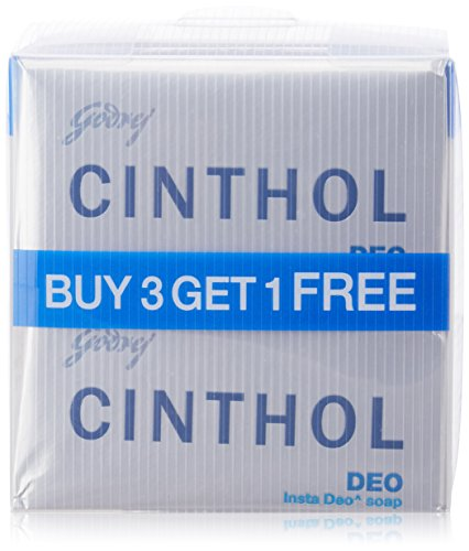 Cinthol Deo Soap, 125g (Pack of 3) + 75 g Free