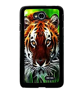 printtech Tiger Eyes Look Grass Back Case Cover for LG L70