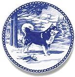 Alaskan Malamute: Danish Blue Plate #7088 by Skan Lekven