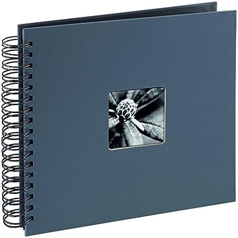 Hama Fine Art Album Fotografico a Spirale, 50 Pagine, 28 x 24 cm, colore grigio