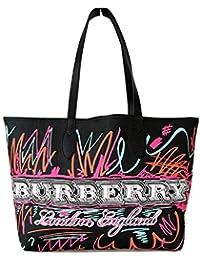 Burberry - Bolso al hombro para mujer Negro Negro L