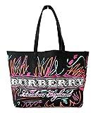 Burberry borsa a spalla shopping reversibile donna doodle tote 4065897 nero