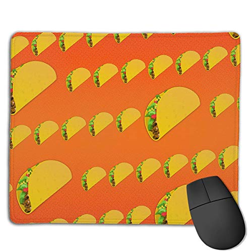 6df64ee1ff403 Cupsbags Mouse Pad Taco Pattern Funny Pattern Lovers Rectangle Rubber  Mousepad 8.66 X 7.09 inch Gaming