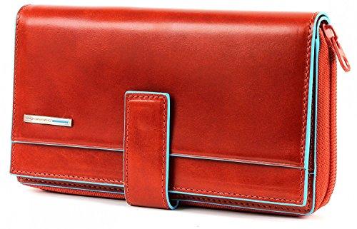 Piquadro Portafoglio donna con portamonete e carte di credito arancione Blue Square PD1354B2/AR