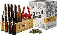 Ce Kit contient tous les ustensiles du brasseur nécessaire à la réalisation de cette bière, à savoir : - 1 manuel de brassage de 12 pages avec les instructions complètes - 1 fourquet (spatule) - 1 dame-jeanne en verre de 5L - 1 bouchon en caoutchouc ...
