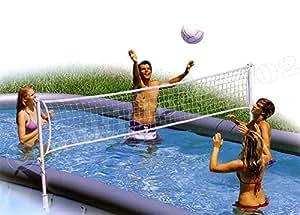 Rete pallavolo volley set per piscina rettangolare sport e tempo libero - Rete pallavolo piscina ...