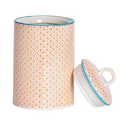 Nicola Spring Gemusterter Porzellan-Küchenzubehör Topf - Orange