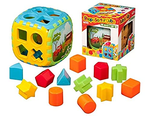 Dede Baby Toddler Shape Sorter Cube 18 Piece Puzzle Sorting