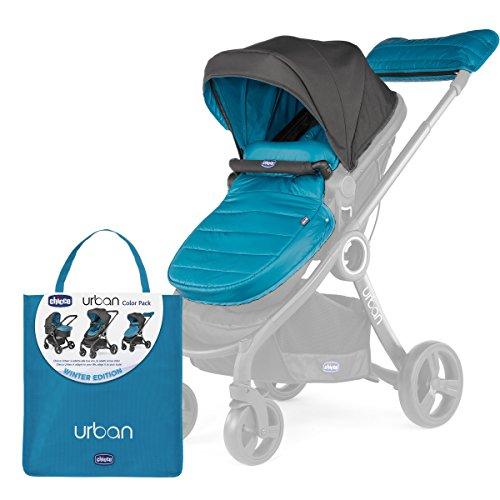 chicco 79337 kit di accessori per urban stroller, blu (winter night)