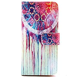 MINILUJIA For iPhone 6S Plus White Bottom Printing For iPhone 6 Plus 5.5 Wallet Case Premium Soft TPU Synthetic Leather Wallet Cover Case