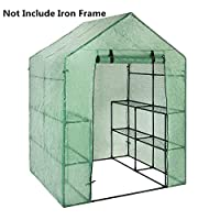 Oshide Outdoor Portable Garden Mini Walk-In Greenhouse Replacement Cover-Just Plant Cover Not Include Iron Frame