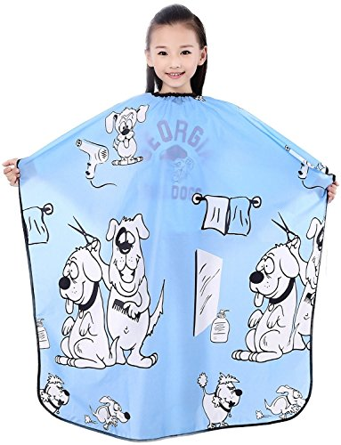 "Child Hair Cutting Cape, Kids Shampoo Cape Waterproof Capes ,52""x37"" (Blue)"