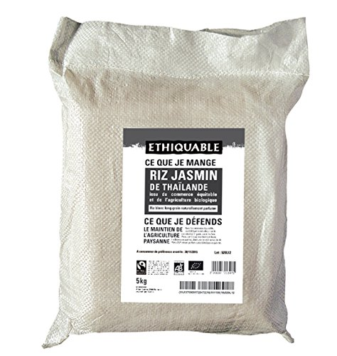 Ethiquable Riz Jasmin de Thaïlande Équitable et Bio 5 kg Max Havelaar