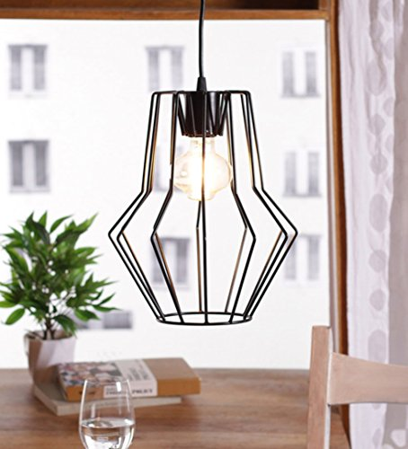 The Brighter Side Black widow cage pendant light