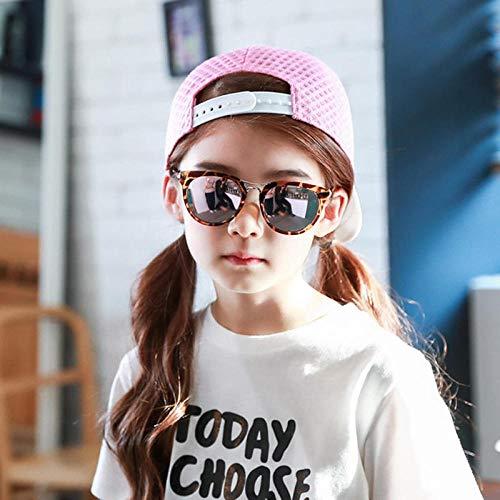 CYCY Baby Kindersonnenbrille Mädchen Sonnenschirm Herren Baby Sonnenbrille Neue süße Lolita Trend Kindersonnenbrille UV400 UV Kinderkomfortbrille Roségold Leopard, Roségold + Leopard