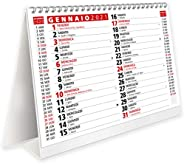 Calendario 2021 da Tavolo con Feste Settimane Lune e Santi - Certificato FSC® e Amico dell'Ambiente - 19,5