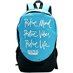 Sara Polyester 25L Blue School Backpack