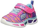 Skechers Litebeams-colorburst, Entrenadores para Niñas, Rosa (Neon Pink/Multi), 26 EU