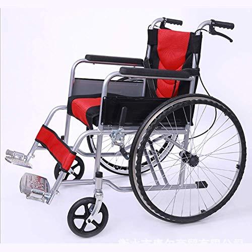 KAD Leichter faltender Rollstuhl, der medizinische erwachsene medizinische Bedarfe, tragbarer Höhlenstuhl-ultra heller älterer untauglicher Wagen fährt dg -