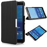 iHarbort® Samsung Galaxy Tab 4 7.0 Hülle Case - Ultra Slim Leder Tasche Hülle Etui Schutzhülle Für Samsung Galaxy Tab 4 7.0 Zoll SM-T230 T231 T235 Case Holder (Galaxy Tab 4 7.0, Schwarz)