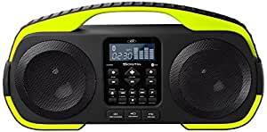 SDigital X-3808 Splash Outdoor-Bluetooth-Lautsprecher (Radio, MP3, Powerbank, AUX-In) cyber lime/grün