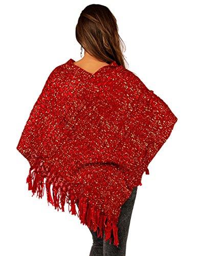 Few24 - Poncho - Femme Rouge - Rot1