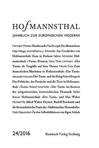 Hofmannsthal Jahrbuch zur Europäischen Moderne Band 24 / 2016 Buch-Cover