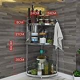 Küchenregal Küche Eckregal, Eckkorbregal Edelstahl Eckregal Organizer Montierte Küche Lagerregale (Farbe: A, Größe: 62cm * 24cm) (Farbe : B, Größe : 62cm*24cm)