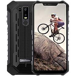 Ulefone Armor 6E (2019) Android 9.0 IP69K Robust Smartphone sin Contrato - Helio P70 Octa-Core, Teléfono móvil para 4GB + 64GB, 6.2''FHD + Screen, Negro