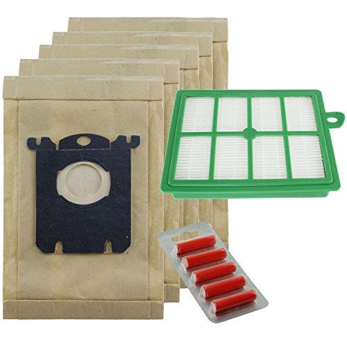 spares2go stark Staub Taschen und EFH12Filter Kit für Electrolux Excellio Staubsauger (5Stück Staubbeutel + 1Filter + 5Lufterfrischer) -