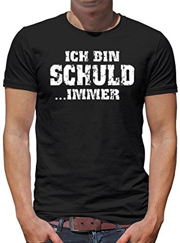 TLM Ich bin schuld...IMMER T-Shirt Herren XL Schwarz