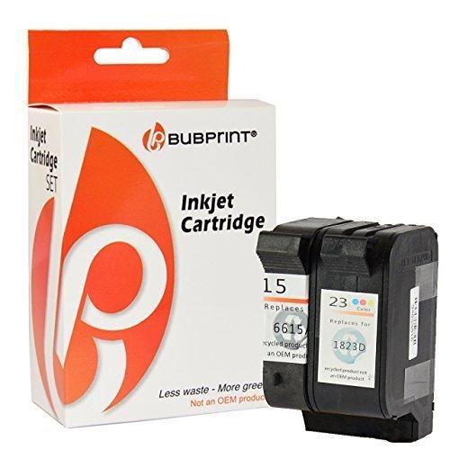 Preisvergleich Produktbild Bubprint 2 Druckerpatronen kompatibel für HP 23 + 15