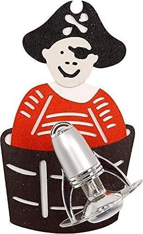 Superbe Luminaires pour Enfants en rouge E14 jusqu'à 40 Watt 230V Applique murale contreplaqué Plastique & Métal avec Pirates Motif Chambre à coucher d'enfants Lampe Suspension/plafonnier intérieur
