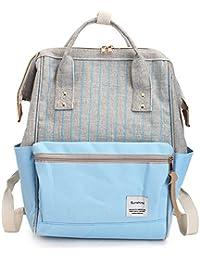 Casual Mujer Escolar Mochila de Viaje Niñas Adolescentes Universidad Bolsa de Hombro Moda Retro 15.6 Laptop