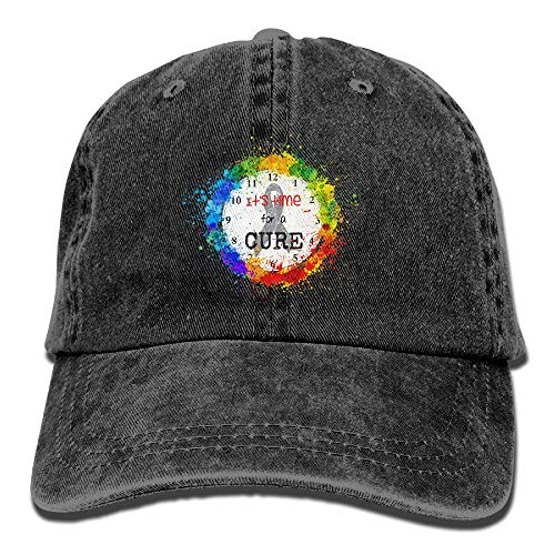 Brain Injury and Brain Cancer Awareness Vintage Washed Dyed Cotton Twill Low Profile Adjustable Baseball Cap Black