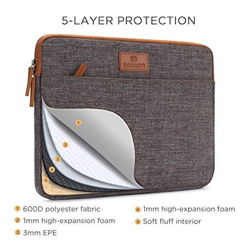 DOMISO 14 Zoll Laptophlle Hlle Sleeve scenario Etui Notebook Schutzhlle Canvas Gewebe Tasche fr 14 Notebook Chromebook 14 Lenovo ThinkPad T470 E470 14 HP 14 Braun Hllen