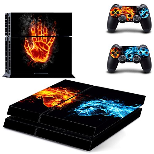 PS4 Adesivo Della Pelle,Wondder Adesivo Protettivo Adesivo in Vinile per Console PS4 + 2 Skin per Controller + 2 x Manopole in Silicone (Colore 15)