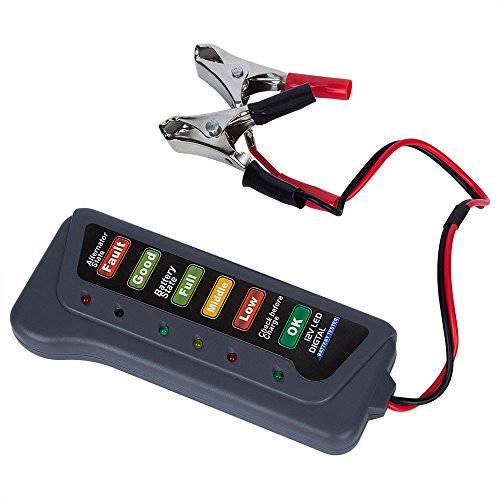 Godagoda 12V Batterietester KFZ LED-Leuchten Digitaler Lichtmaschinen Tester für Auto Ladezustand Batterie-Belastbarkeit