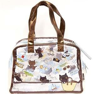 Grand sac à main avec chat Kutusita Nyanko à la mer
