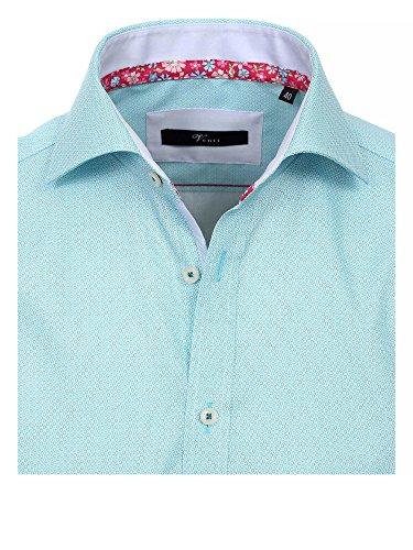 Venti Messieurs Chemise d'affaires Également disponible en grandes tailles 100 % coton Turquoise
