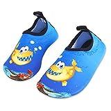 Kinder Strandschuhe Jungen Mädchen Schwimmschuhe Aqua Schuhe Baby Badeschuhe für Beach Pool Surfen Yoga Unisex(Bubble Fisch,22/23EU)
