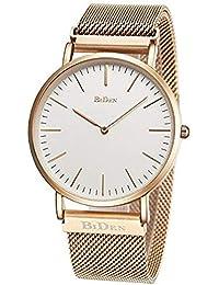 Relojes Unisex para Mujer para Hombre Reloj de Pulsera Minimalista Ultrafino de Moda Reloj analógico de