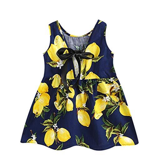 Innerternet Mädchen Kleinkind Baby Kinder Weg von der Schulter ärmellose Sonnenblumen Rock Prinzessin Kleider Kleidung Vintage Baumwolle Kleid Hepburn Stil Kleid Blumen Kleid Tupfen Kleid