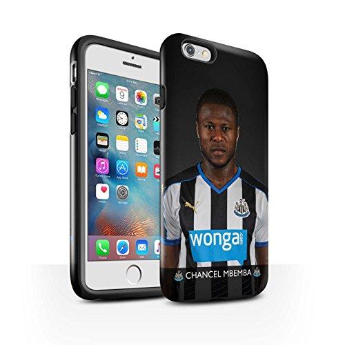 Officiel Newcastle United FC Coque / Brillant Robuste Antichoc Etui pour Apple iPhone 6+/Plus 5.5 / Elliot Design / NUFC Joueur Football 15/16 Collection Mbemba