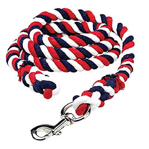 Cottage Craft Multicoloured Lead Rope - Red/Royal Blue