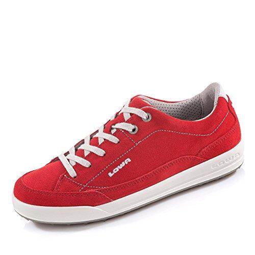 LOWA PALERMO WS 320768/0340 Unisex - adulto Scarpe sportive - rosso/bianco