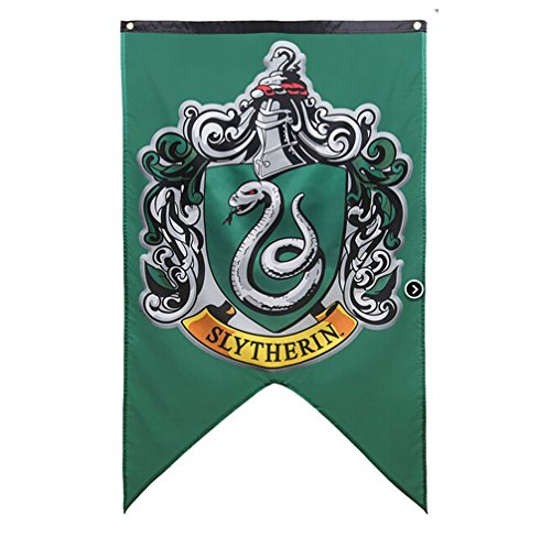 yuhiugre Harry Potter Complete Hogwarts House Wall Banners, Ultra Premium Double Layered Indoor Outdoor Party Flag - Gryffindor, Slytherin, Hufflepuff, Ravenclaw - 30`X 50`(H02) - Indoor-flag-kit